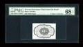 Fractional Currency:First Issue, Milton 1DP10R.1 10¢ First Issue Trial-Color Die Proof Back PMGSuperb Gem Uncirculated 68 EPQ. . ...