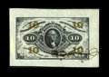 Fractional Currency:Third Issue, Fr. 1253SP Milton 3P10F.1a Ten Cent Third Issue Single Signature Wide Margin Face Proof Choice About New. . ...