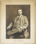 Autographs:U.S. Presidents, Theodore Roosevelt Photo Signed and Dated 1912. An elegant formalseated portrait of our 26th president with the blind copyr...