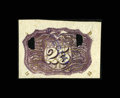 Fractional Currency:Second Issue, Milton 2E25R.1d 25c Second Issue Experimental Negative Essay BackDesign Choice New. ...