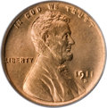 Lincoln Cents, 1911-D 1C MS66 Red PCGS....