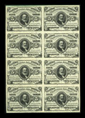 Fractional Currency:Third Issue, Fr. 1238 5c Third Issue Block of Eight About New....