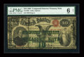 Large Size:Compound Interest Treasury Notes, Fr. 190b $10 1864 Compound Interest Treasury Note PMG Good 6 Net....
