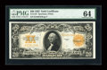 Large Size:Gold Certificates, Fr. 1187 $20 1922 Gold Certificate PMG Choice Uncirculated 64....