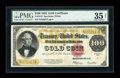 Large Size:Gold Certificates, Fr. 1215 $100 1922 Gold Certificate PMG Choice Very Fine 35 Net....