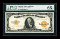 Large Size:Gold Certificates, Fr. 1173 $10 1922 Gold Certificate PMG Gem Uncirculated 66 EPQ....