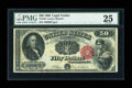 Large Size:Legal Tender Notes, Fr. 164 $50 1880 Legal Tender PMG Very Fine 25....