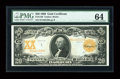 Large Size:Gold Certificates, Fr. 1186 $20 1906 Gold Certificate PMG Choice Uncirculated 64....