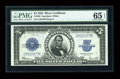 Large Size:Silver Certificates, Fr. 282 $5 1923 Silver Certificate PMG Gem Uncirculated 65 EPQ....