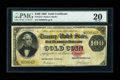 Large Size:Gold Certificates, Fr. 1213 $100 1882 Gold Certificate PMG Very Fine 20....
