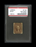 Stamps, #30A, 1860, 5c Brown, XF 90; PSE. (Original Gum - Previously Hinged).... (Total: 1 Slab)