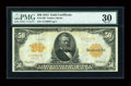 Large Size:Gold Certificates, Fr. 1199 $50 1913 Gold Certificate PMG Very Fine 30....
