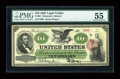 Large Size:Legal Tender Notes, Fr. 93 $10 1862 Legal Tender PMG About Uncirculated 55....