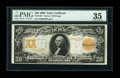 Large Size:Gold Certificates, Fr. 1182 $20 1906 Gold Certificate PMG Choice Very Fine 35....