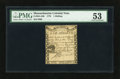 Colonial Notes:Massachusetts, Massachusetts 1779 1s PMG About Uncirculated 53....