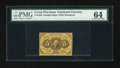 Fractional Currency:First Issue, Fr. 1230 5c First Issue PMG Choice Uncirculated 64....