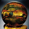 Lapidary Art:Spheres, LARGE MARRA MAMBA TIGER'S EYE SPHERE. ... (Total: 2 Items)