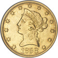 Liberty Eagles, 1858-O $10 AU55 PCGS....