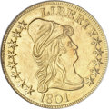 Early Eagles, 1801 $10 --Damaged, Cleaned--ANACS. AU55 Details....
