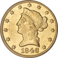 Liberty Eagles, 1848-O $10 AU55 PCGS....