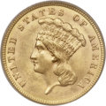 Three Dollar Gold Pieces, 1887 $3 MS63 PCGS....