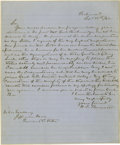 "Autographs:Military Figures, Kentucky Confederate Senator Henry C. Burnett Autograph LetterSigned, ""H. C. Burnett"", one page, 8"" x 10"", Richmond, Vi..."