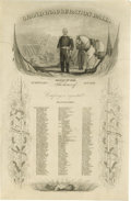 "Political:Inaugural (1789-present), Zachary Taylor Inauguration Ball Invitation, one page, 6"" x 9"", Washington, D.C., March 5, 1849. A lithograph shows the pres..."