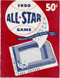 Autographs:Others, 1950 Signed Baseball All Star Game Program...