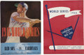 Autographs:Others, 1946 World Series Programs Signed By Cardinals And Red Sox. ...