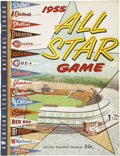 Autographs:Others, 1955 Signed Baseball All Star Game Program....