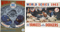 Autographs:Others, 1963 World Series Signed Programs By Yankees And Dodgers. ...