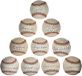 Autographs:Baseballs, 1930's-1990's Single Signed Baseballs Lot of 10....