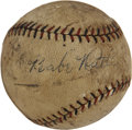 Autographs:Baseballs, Babe Ruth Signed Baseball From 1926. ...