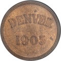 So-Called Dollars, 1905 $1 Denver Mint Opening So-Called Dollar, HK-876, MS63 Red and Brown NGC....