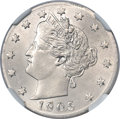 Errors, 1905 5C Liberty Nickel--Struck on a Foreign Planchet--MS64 NGC....