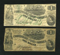 Confederate Notes:1862 Issues, T44 $1 1862.. T45 $1 1862.. ... (Total: 2 notes)