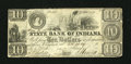 Obsoletes By State:Indiana, Indianapolis, IN- State Bank of Indiana at New Albany Spurious $10 Jan. 31, 1837. ...