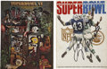 Football Collectibles:Others, Super Bowl III And VI Signed Programs....