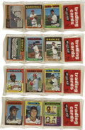 Baseball Cards:Other, 1975 Topps Baseball Unopened Rack Packs Group of (4). ...