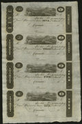 Obsoletes By State:Ohio, Cincinnati, (OH)- Unknown Issuer $5-$3-$2-$1 Post Notes 18__ UncutSheet. ...