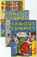 Golden Age (1938-1955):Miscellaneous, Famous Funnies #113 and 127-130 File Copies Group (Eastern Color, 1943-45) Condition: Average VF+.... (Total: 5 Comic Books)