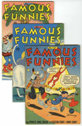Golden Age (1938-1955):Miscellaneous, Famous Funnies File Copies Group (Eastern Color, 1944-45) Condition: Average VF.... (Total: 4 Comic Books)
