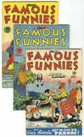 Golden Age (1938-1955):Miscellaneous, Famous Funnies #131 and 133-136 File Copies Group (Eastern Color, 1945) Condition: Average VF.... (Total: 5 Comic Books)