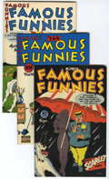 Golden Age (1938-1955):Miscellaneous, Famous Funnies File Copies Group (Eastern Color, 1946-49) Condition: Average VF-.... (Total: 5 Comic Books)