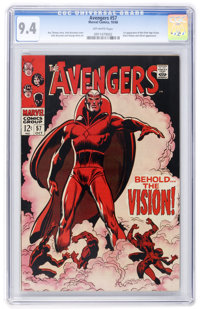 The Avengers #57 (Marvel, 1968) CGC NM 9.4 Off-white pages