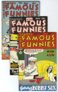 Golden Age (1938-1955):Miscellaneous, Famous Funnies #179-182 and 184 File Copies Group (Eastern Color, 1949) Condition: Average VF/NM.... (Total: 5 Comic Books)