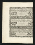 Colonial Notes:New Hampshire, New Hampshire April 3, 1755 Redated June 1, 1756 3s Cohen ReprintSheet New....