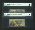 Fractional Currency:Fourth Issue, Fr. 1376 50c Fourth Issue Stanton Pair PMG Fine 12 and Very Good 10.... (Total: 2 notes)