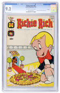 Bronze Age (1970-1979):Humor, Richie Rich #90 File Copy (Harvey, 1970) CGC NM- 9.2 Off-white towhite pages....