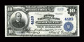 National Bank Notes:Wisconsin, Marinette, WI - $10 1902 Plain Back Fr. 626 The First NB Ch. # 4123. ...